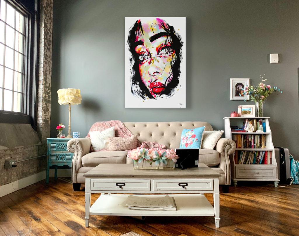 Sophie Bastien colorful portrait painting