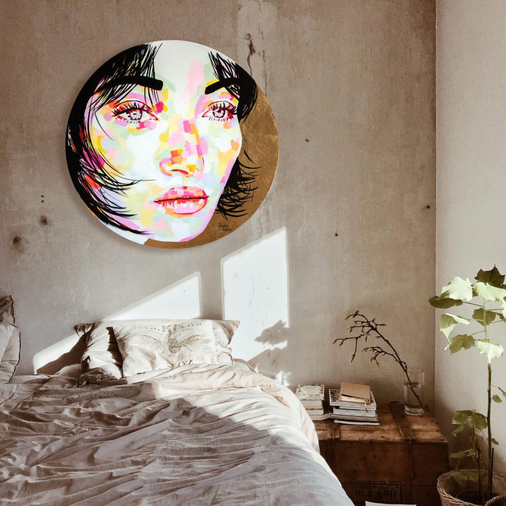 Sophie Bastien Gold colorful painting
